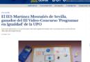 El IES Martínez Montañés de Sevilla, ganador del III Vídeo-Concurso 'Programar en Igualdad' de la UPO