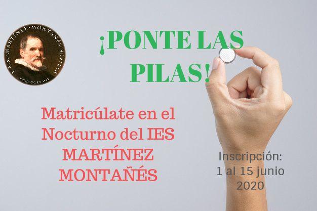Matricúlate en el nocturno del IES Martínez Montañés