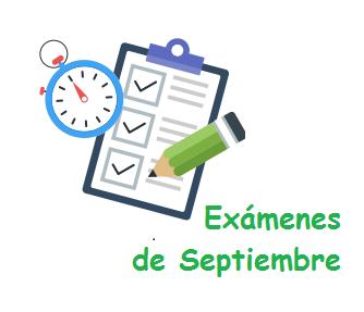 Calendario Adultos exámenes septiembre 2020